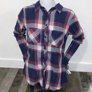 Maurices Plaid Button Up Flannel